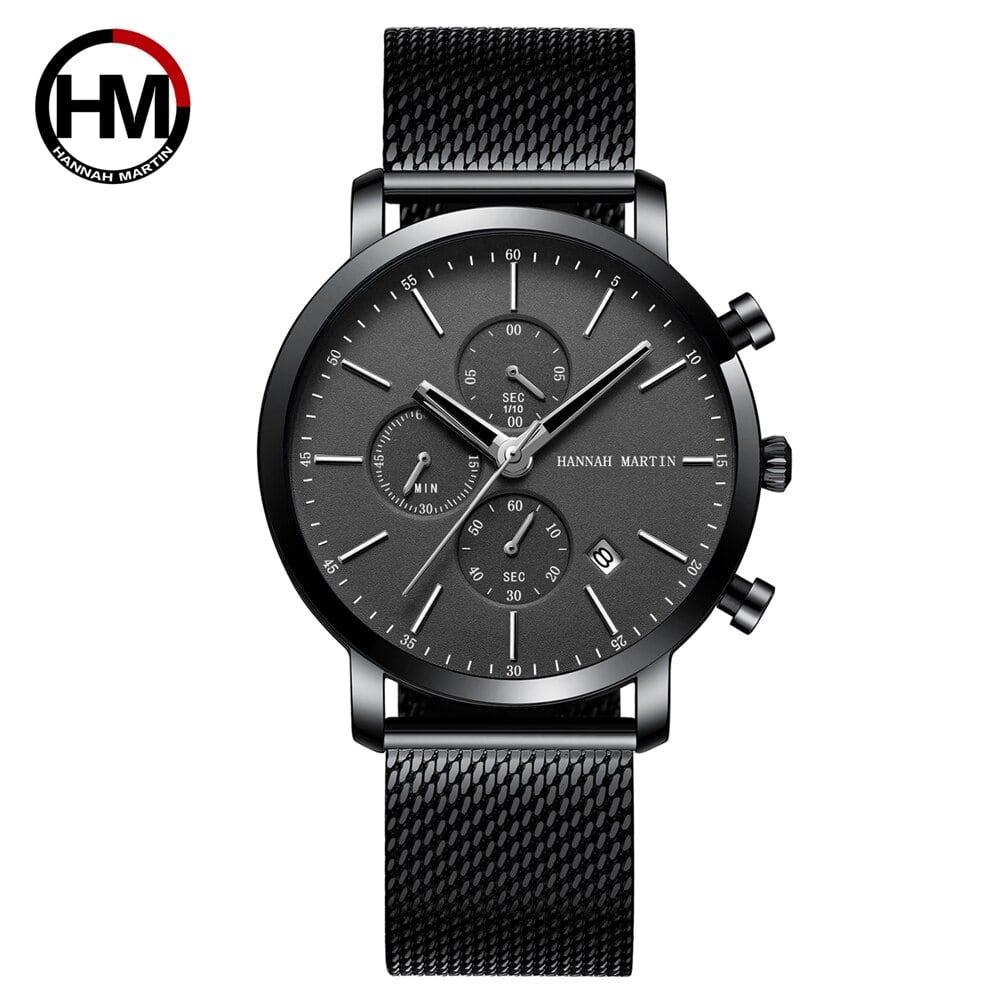 メンズウォッチトップブランドファッション多機能スモールダイヤルステンレススチールメッシュビジネス防水腕時計109H-WYH