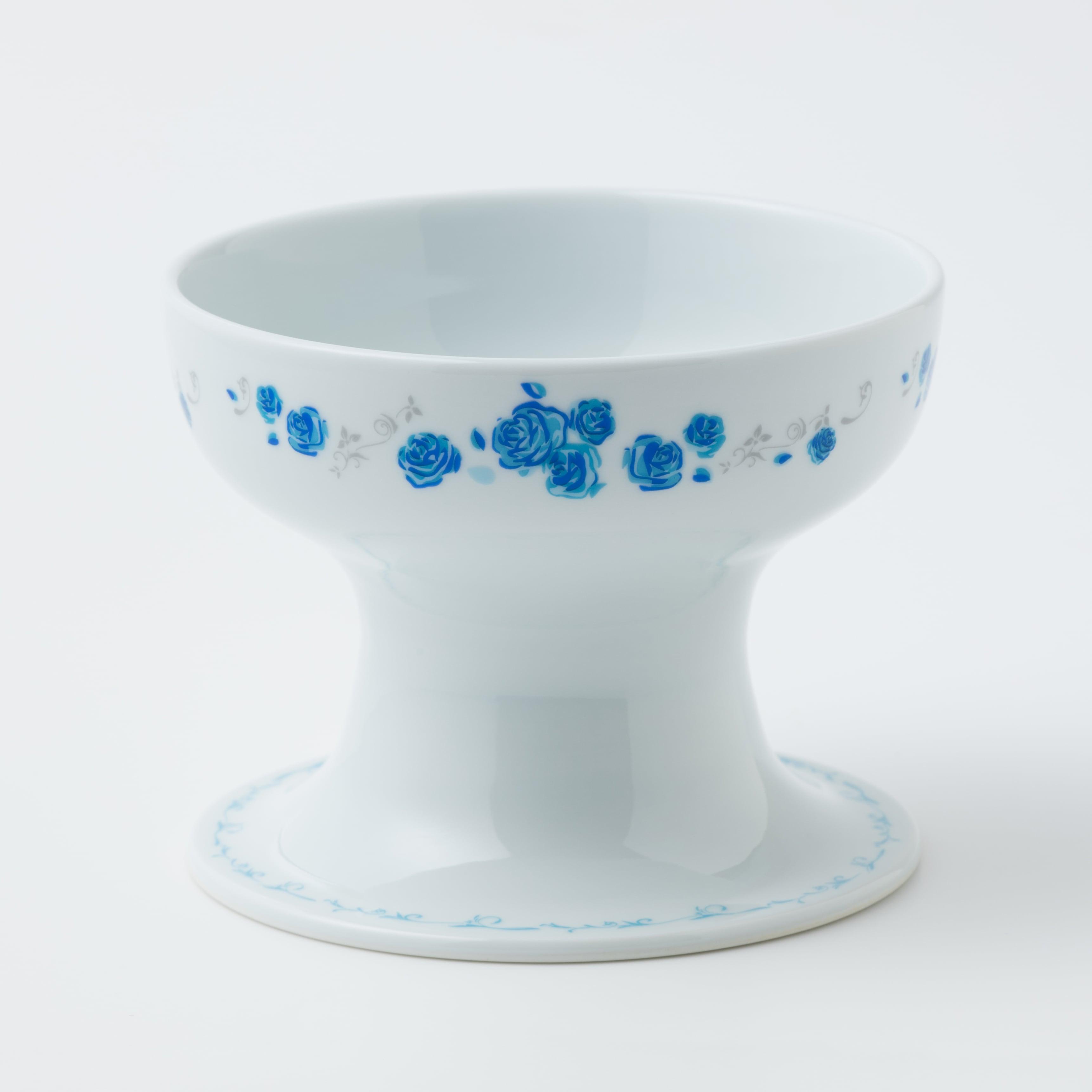 有田焼【ローズ】 ハイタイプ(フード用) ブルー 製造:江口製陶所