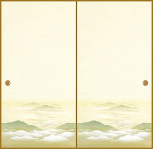 吉兆103(1枚柄) 織物ふすま紙 203cm×100cm 1枚