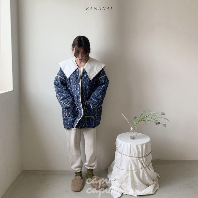 «sold out»«ママサイズ» banana j quilting outer  ワッフルトップス