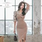 No.102 韓国ドレス キャバドレス きれいめワンピース ミニドレス