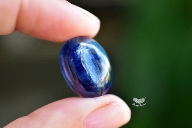 青の移ろい★高品質★カイヤナイト ルース カボション kya015