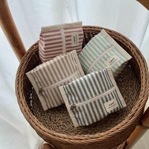[a.poel] Stripe Cracker pouch (全4色)