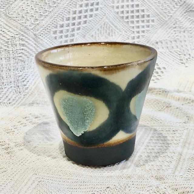 『ノモ陶器製作所』皿7寸 コバルト チチチャン