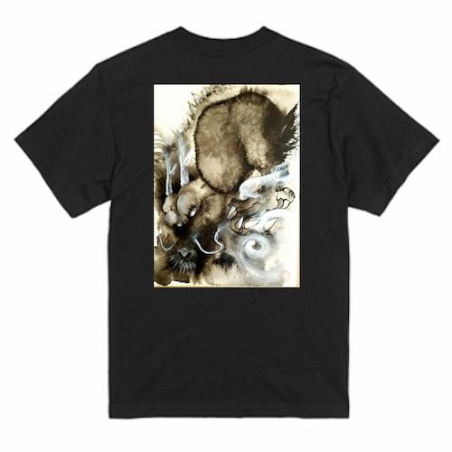 陥穽Tシャツ黒-XL