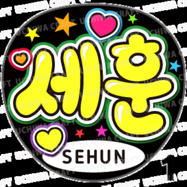 【プリントシール】【EXO(エクソ)/SEHUN(セフン)】『세훈』コンサートやツアーに!手作り応援うちわでファンサをもらおう!!!