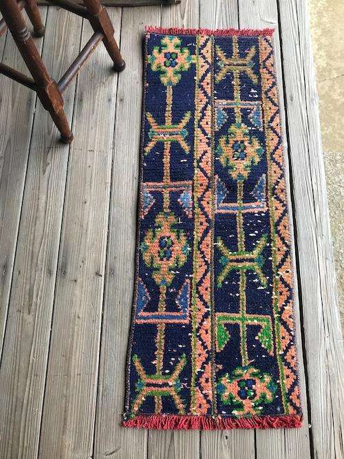 ビンテージ トルコ 絨毯 ミニラグ 玄関マット B