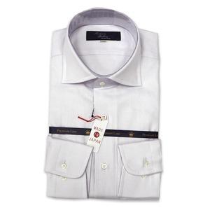 国産カーブワイドカラーシャツ ホワイト