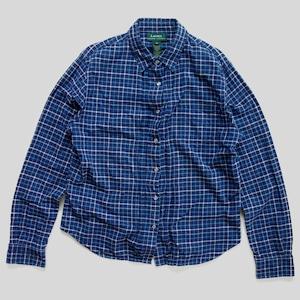 90年代 ラルフローレン プリーツシャツ スナップボタン