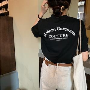 2021SS 英字レタープリント半袖Tシャツ S3598