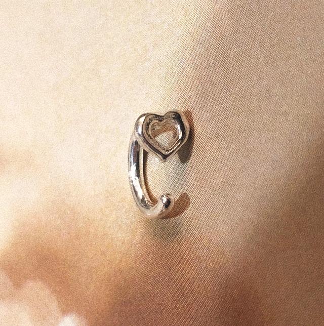 bone HEART body jewelry SILVER925  #LJ18051P/18G  #LJ18050P/16G  #LJ19006P/14G