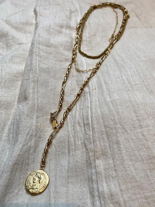 Soierie aging coin necklace 3p set