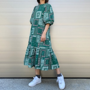 【WOMENS - 1 size】PAISLEY ONEPIECE / Green