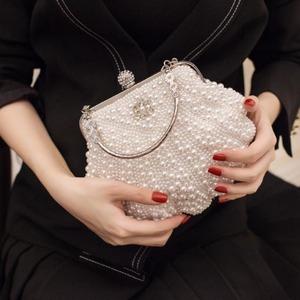 5809クラッチバッグ レディース パーティーバッグ キラキラ パール 輝き イブニングバッグ 結婚式バッグ 肩掛けバッグ