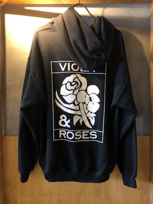 VIOLA&ROSES CLASSIC HOODIE NO.2BK