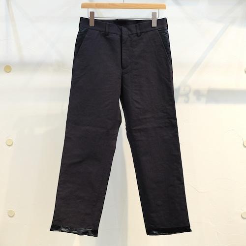 KUON(クオン) 綿和紙アセテート スラックス ネイビー