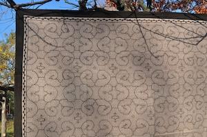 ベッドカバー 29 特大 150x160cm AAA アマゾン シピボ族の泥染め 薄紫シンプルガーゼ