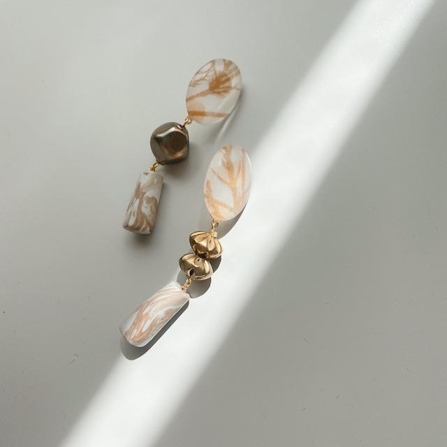""""""" Pierce NO.danoan-155″ベージュリバティとクレイパーツ"""