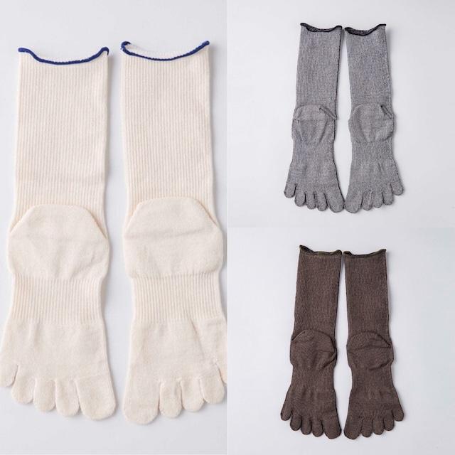 【THE DAWN B】FIVE FINGER SOX -grey/khaki/white-