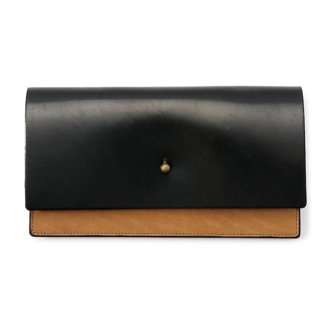 forme Long wallet Cordvan black