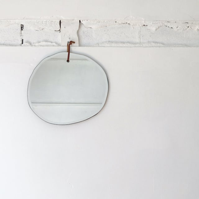 WALL HANGING MIRROR CLOUD OVAL 鏡 ミラー