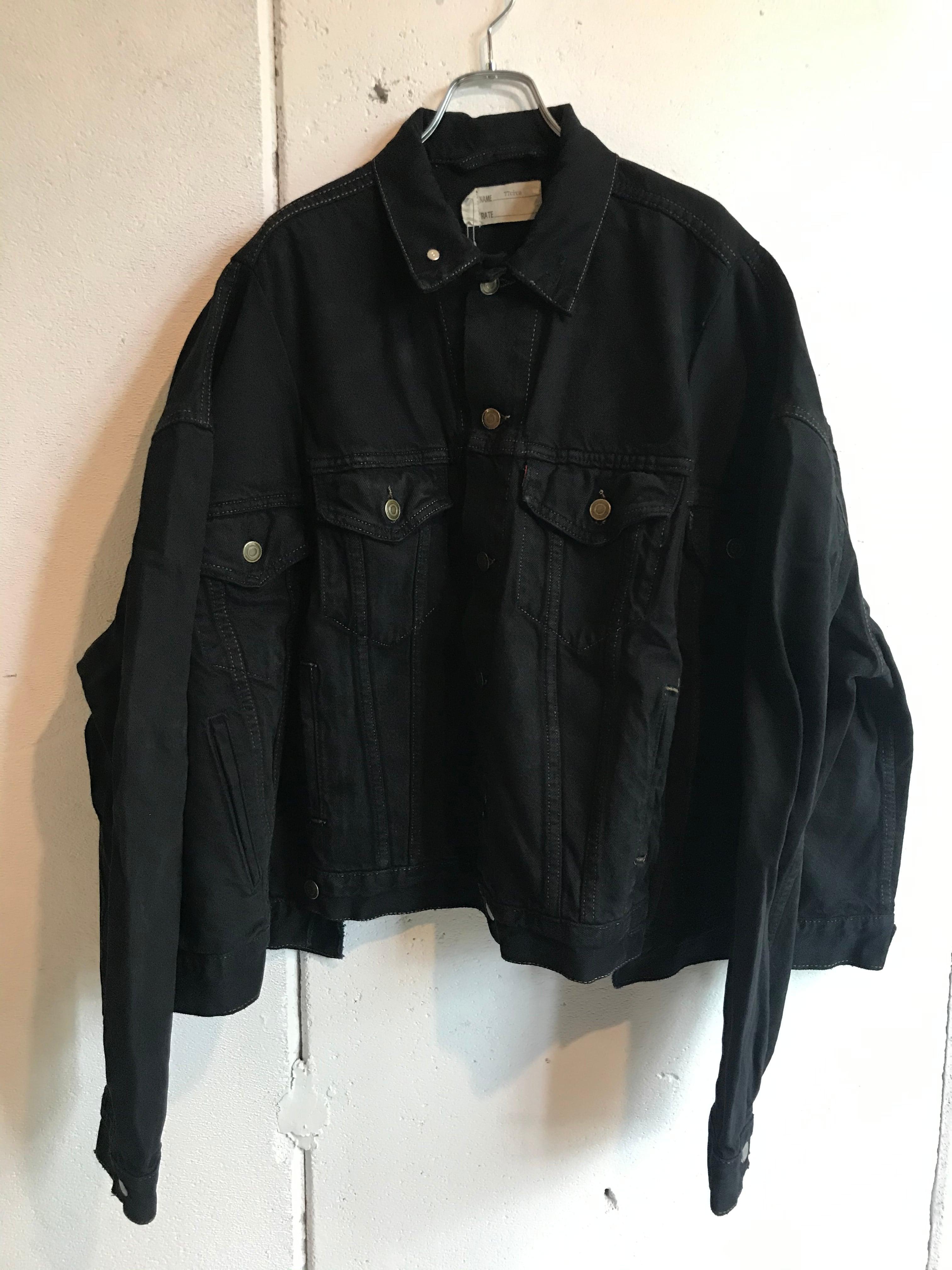 77circa    circa make wide denim jacket