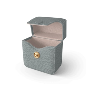 Air Pods Case Premer Shrink Leather (Ice Grey)