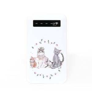 バッテリー《猫の庭園》iPhone/Android