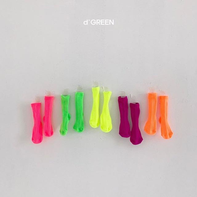 dgreen ( ディグリーン) neon socks ネオン ソックス