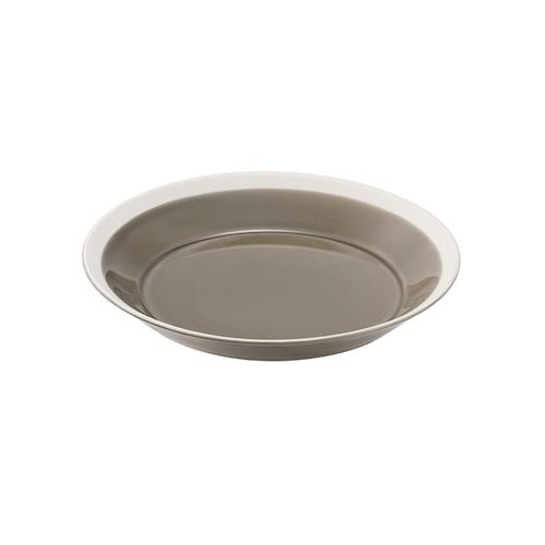 yumiko iihoshi porcelain(イイホシ ユミコ) Dishes プレート180 fawn brown