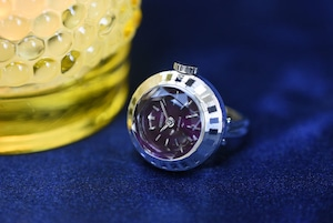 【ビンテージ時計】1978年1月製造 セイコー指輪時計 日本製 当時の定番モデル おいしそうな葡萄色(パープル)の文字盤♪