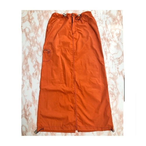 vintage orange maxiskirt