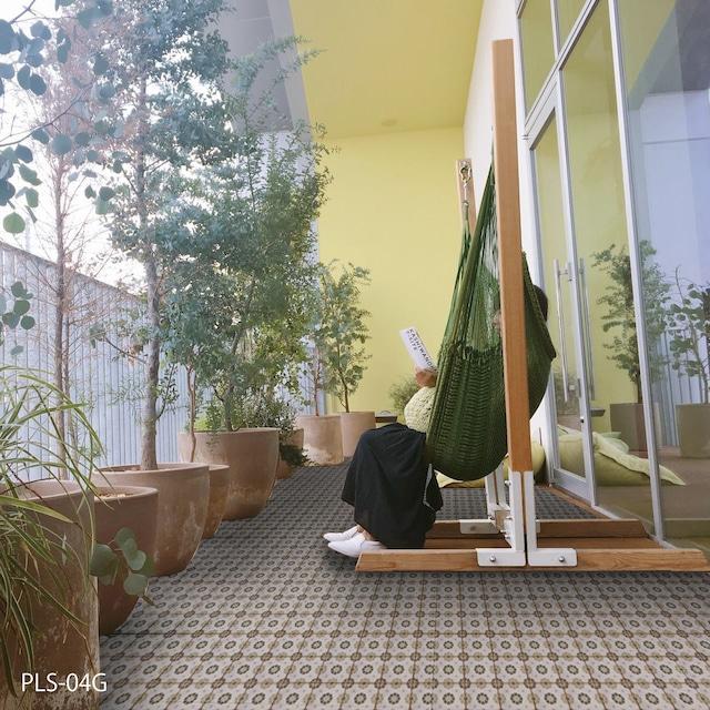 ポポラス 150角/SWANTILE 花柄 内外装床壁用 淡い色味で使いやすい
