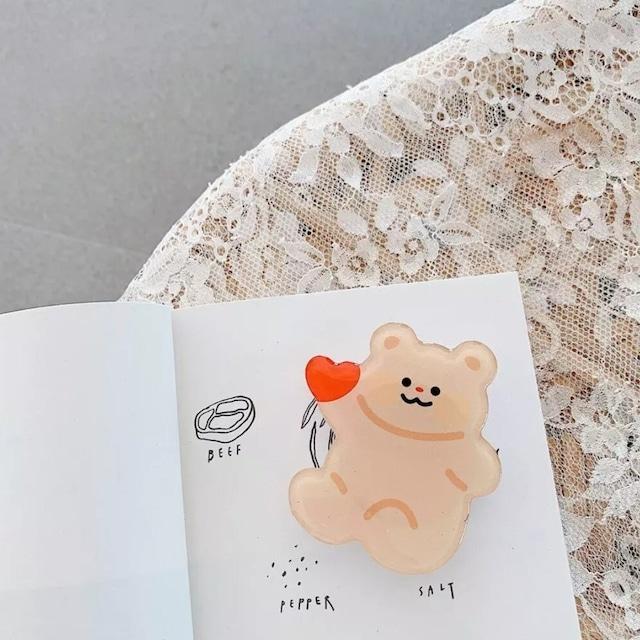 【送料無料】即納 韓国スマホリング Heart|ベア グリップトック スマホアクセサリー 韓国 雑貨