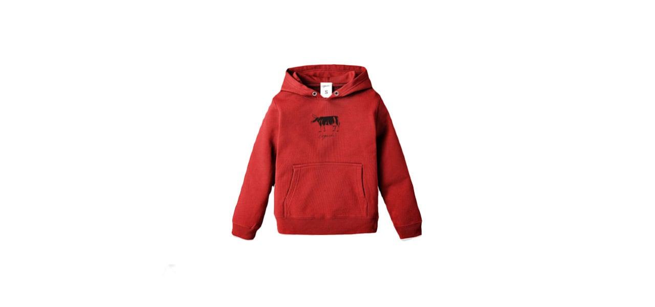 coguchi cow kids hoodie (RED)
