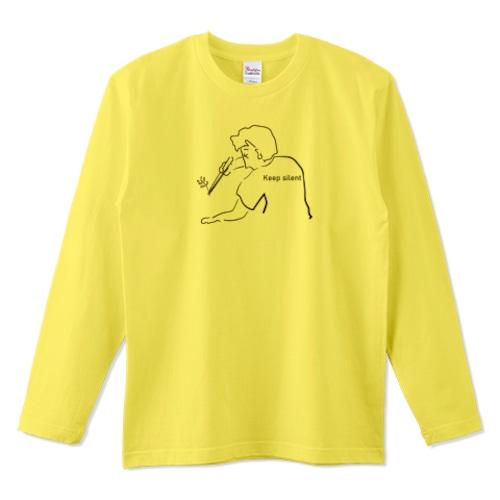 キープサイレントアクア / 5.6オンスロングTシャツ (Printstar)