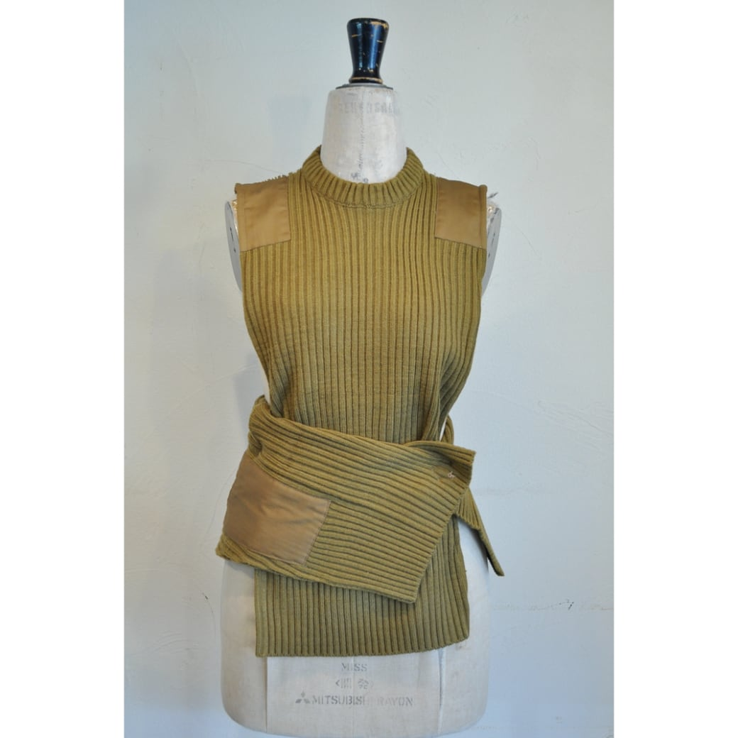 【RehersalL】commando sweater vest(camel) /【リハーズオール】コマンドセーターベスト(キャメル)
