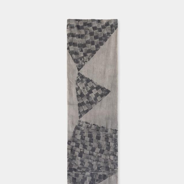 Shiori Mukai Textile 023 向井詩織 ブロックプリント 約36×190cm