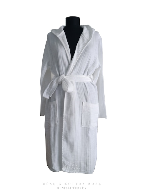 4 layers Denizli cotton  MÜSLIN Robe 4層ガーゼデニズリコットンローブ