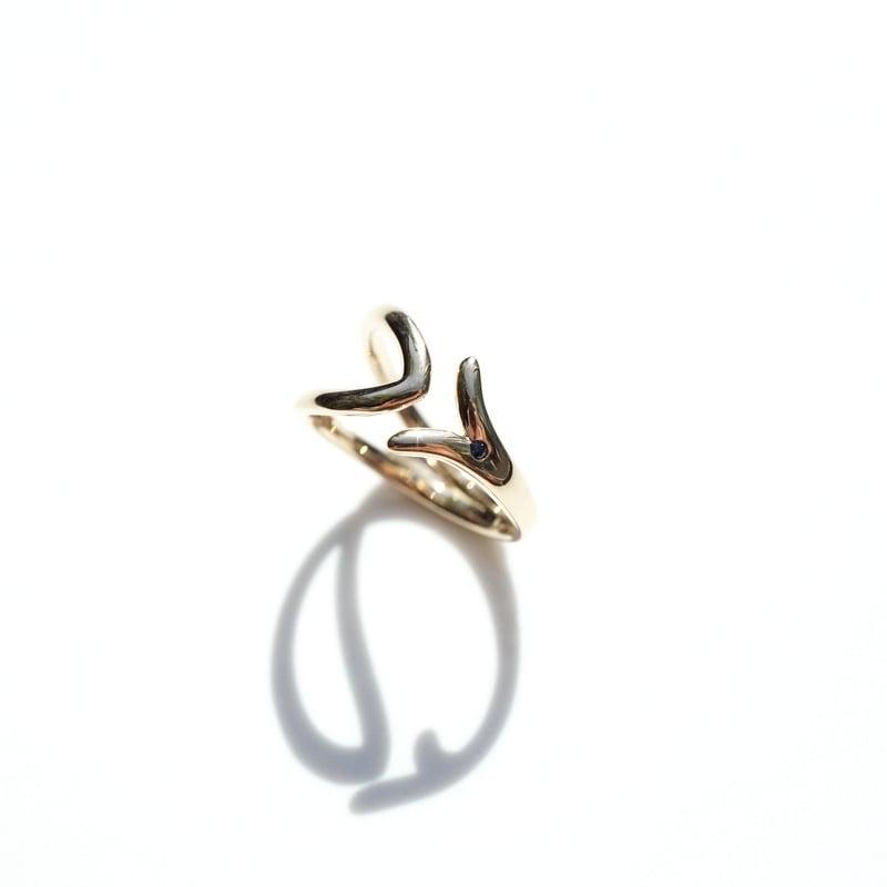 Fish symbol ring - K18YG