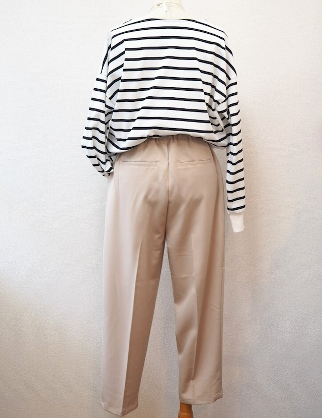 pressed tapered trousers
