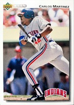 MLBカード 92UPPERDECK Carlos Martinez #598 INDIANS