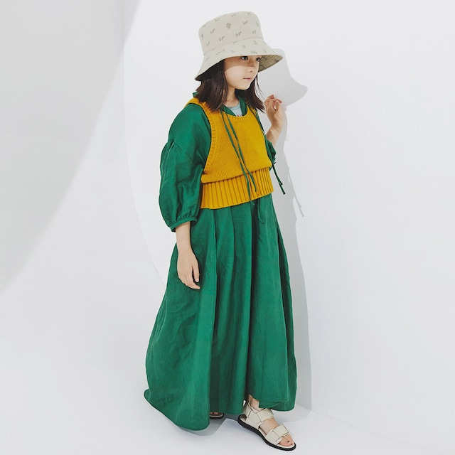 Last one S!GRIS 21SS Smock Dress S/Mサイズ (Grass) [DR21SS-SN006]