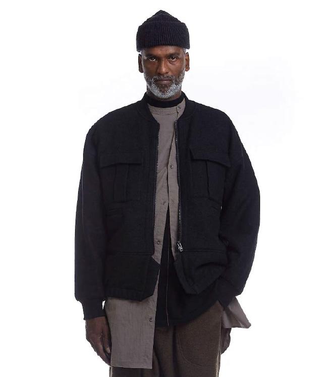 JOE CHIA - Mens woven funnel collar long shirt - SH18