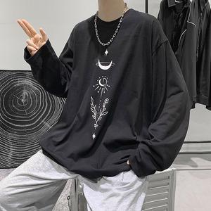 《即納》ビッグシルエット・イラストロゴ長袖Tシャツ