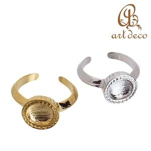 アクセサリー パーツ 指輪 リング 円形 丸 粘土 樹脂 土台 ラウンド 1個 [ri-25775] ハンドメイド オリジナル 材料 金具 装飾 カラワク 空枠