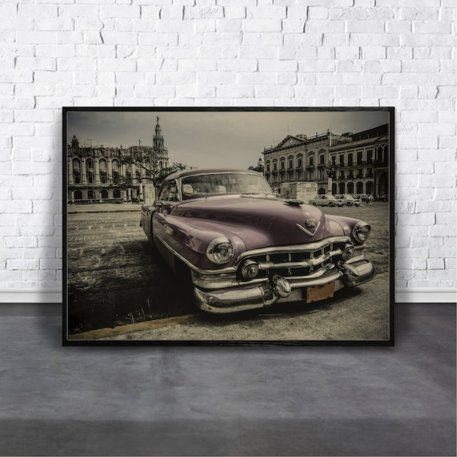 Vintage car【アートポスター専門店 Aroma of Paris】[AP-000370]