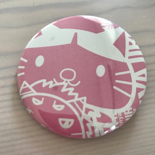 【14周年セール】ニャジロウモノトーン缶バッジ:ピンク