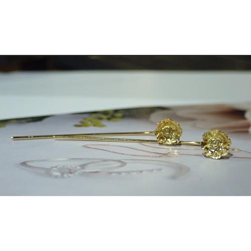 Anemone K18YG Fook Earrings