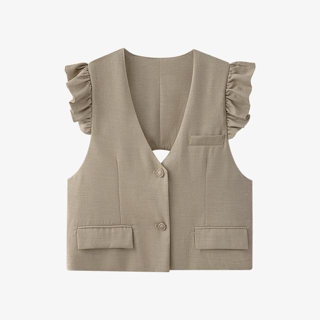 Back open vest  KRE904